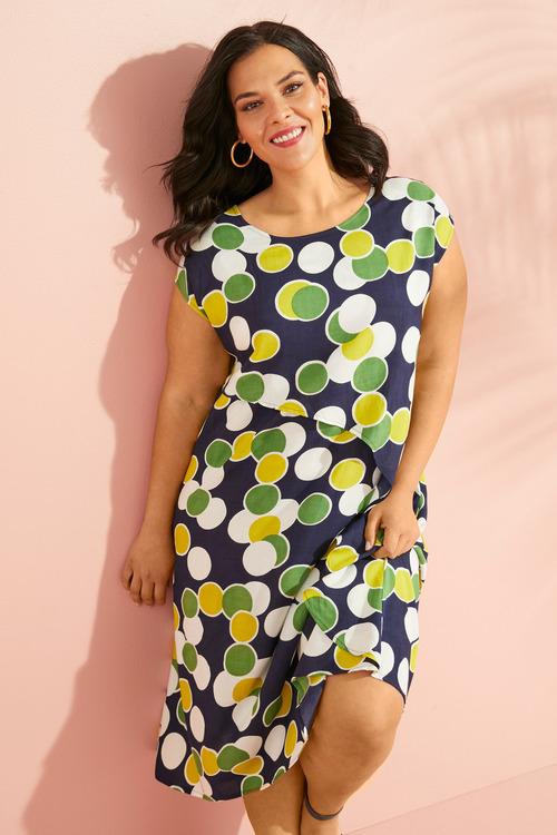Sara Panel Drape Dress