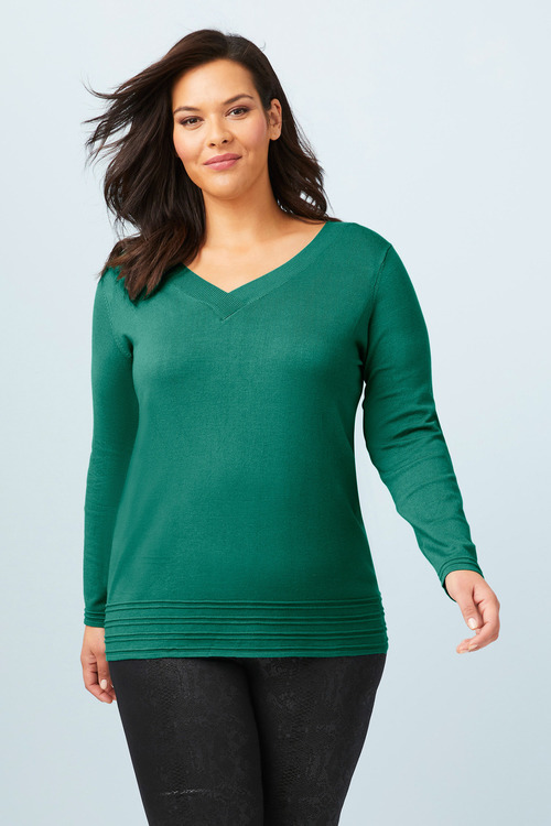 Sara Rib Detail Sweater