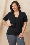 Plus Size - Sara Short Sleeve Cotton Cardigan
