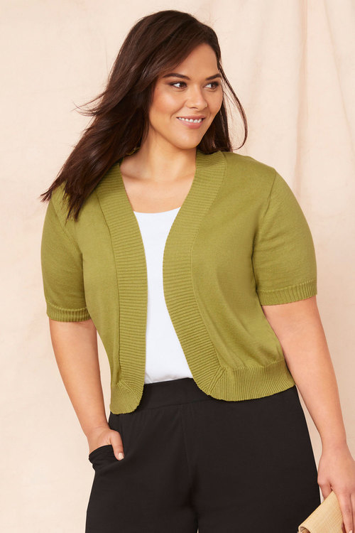 Sara Short Sleeve Cotton Cardigan