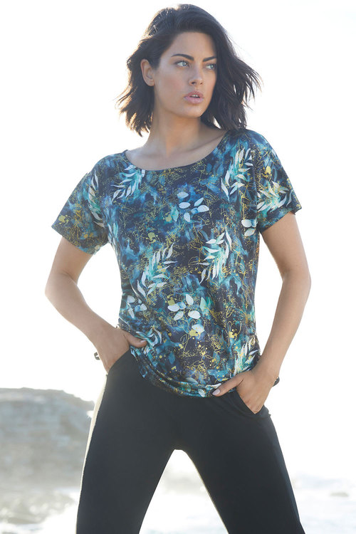Isobar Active Ruched Print Tee