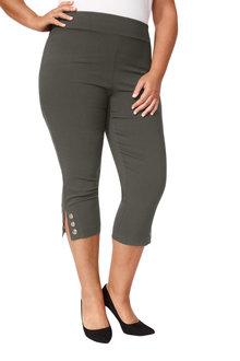 Plus Size - Sara Eyelet Crop Pant - 249905
