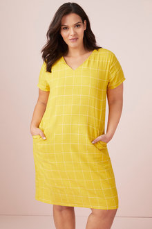 Plus Size - Sara Angled Panel Dress - 249907