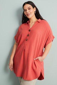 Sara Linen Short Sleeve Shirt - 249915