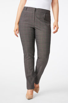 Plus Size - Sara Check Trousers - 249956