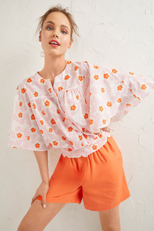 Emerge Flutter Sleeve Shirt