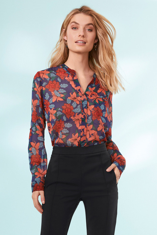 Capture Chiffon Crinkle Shirt