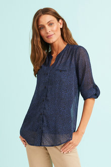 Capture Chiffon Crinkle Shirt - 249971