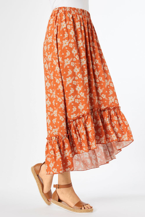 Capture Ruffle Hem Hi low Skirt