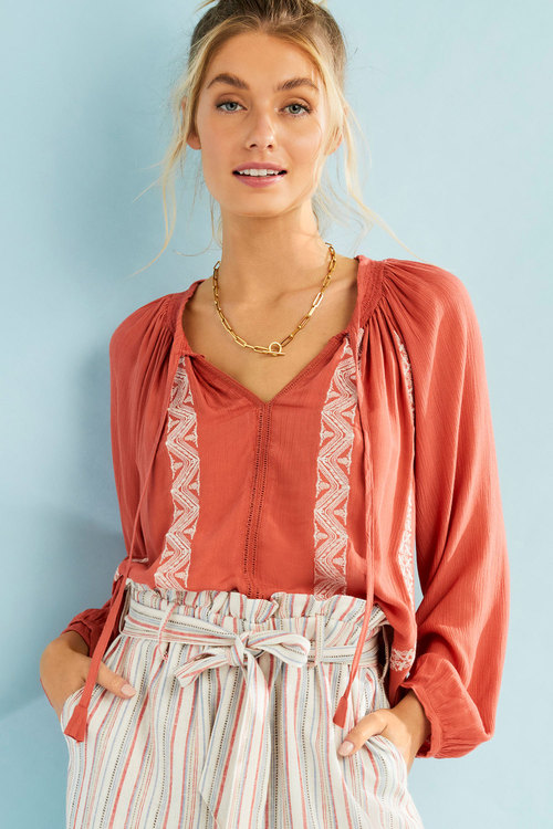 Capture Embroidered Boho Top