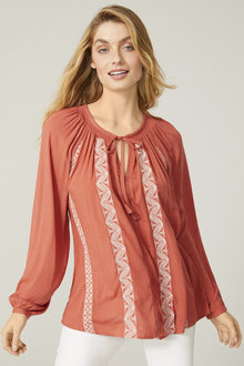 Capture Embroidered Boho Top - 250040