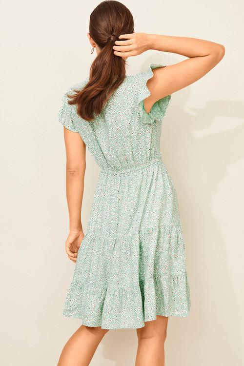 Capture Flutter Sleeve Spring Dress