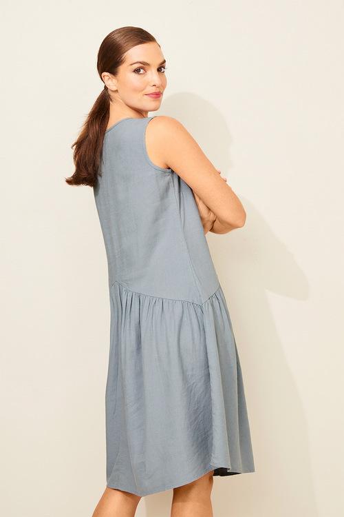 Capture Linen Blend Drop Waist Dress