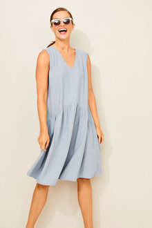 Capture Linen Blend Drop Waist Dress - 250057