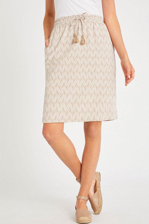Capture Linen Blend Pull on Skirt