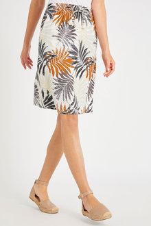 Capture Linen Blend Pull on Skirt - 250063