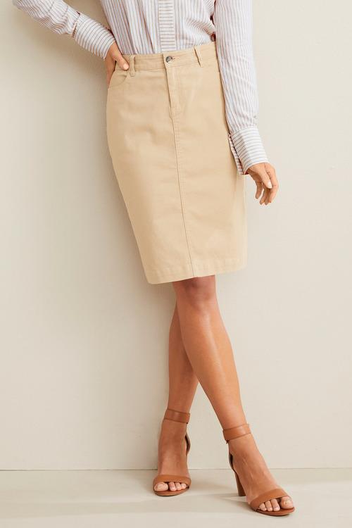 Capture Button Pencil Skirt