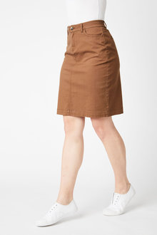 Capture Button Pencil Skirt - 250064