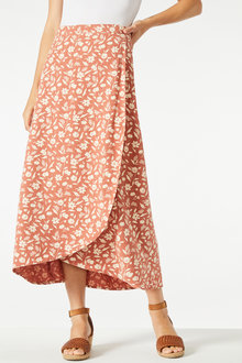 Capture Linen Blend Wrap Skirt - 250065