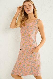 Capture Linen Pocket Shift Dress - 250068
