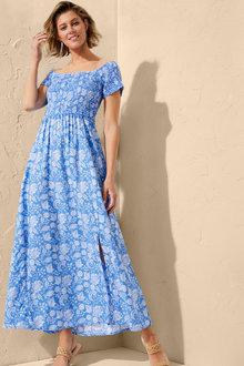 Capture Shirred Maxi Dress - 250073