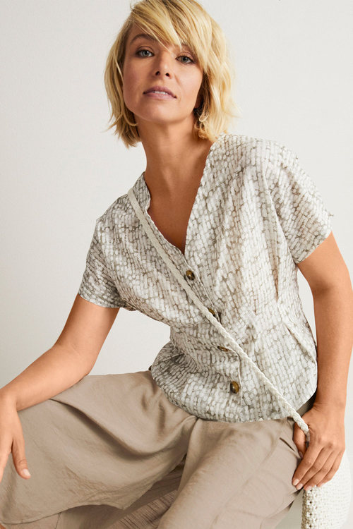 Capture Cotton Pleat Detail Shirt