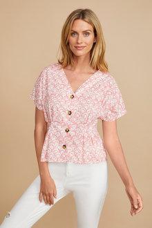 Capture Cotton Pleat Detail Shirt - 250087