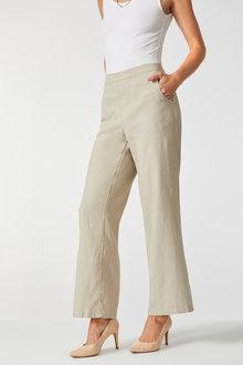 Capture Linen Flat Front Wide Leg Pant - 250100