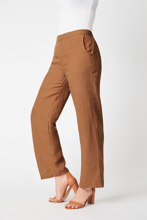 Capture Linen Flat Front Wide Leg Pant