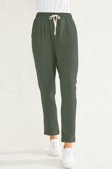 Capture Stretch Cotton Casual Pants - 250112
