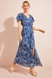 Capture Flutter Sleeve Maxi Dress