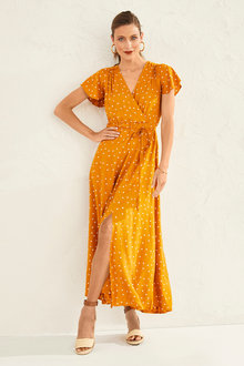 Capture Flutter Sleeve Maxi Dress - 250178