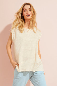Capture Linen Boxy Panel Tee - 250182