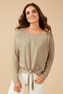 Linen Blend Long Sleeve - 250183