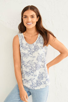 Capture Linen Classic Printed Tank - 250197