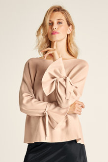 Heine Oversized Sleeve Tie Sweater - 250252