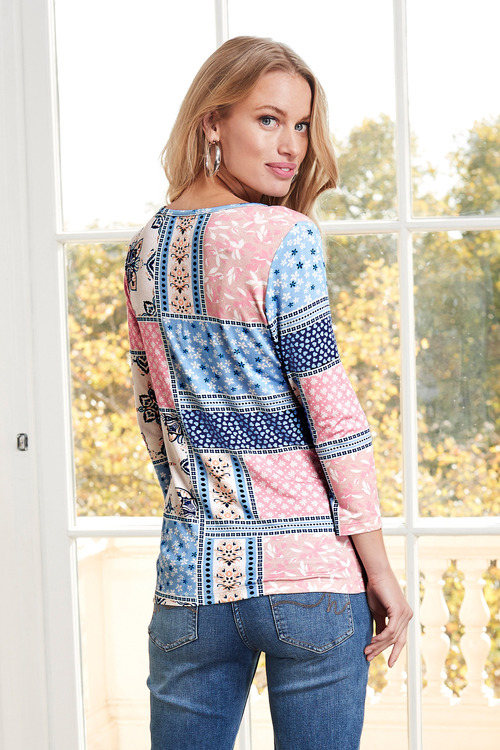 European Collection Patch Print Top
