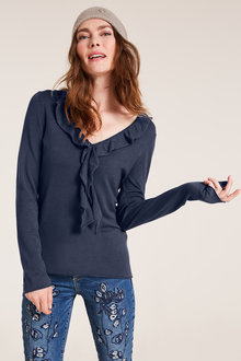 Heine Ruffle Trim Sweater - 250271
