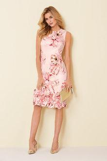 Kaleidoscope Ruffle Applique Detail Dress - 250276