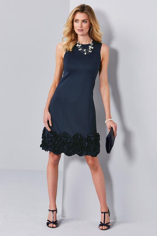 Kaleidoscope Ruffle Applique Detail Dress