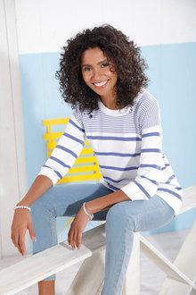 Euro Edit Stripe Sweater - 250280