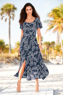 Euro Edit Printed Maxi Dress - 250281