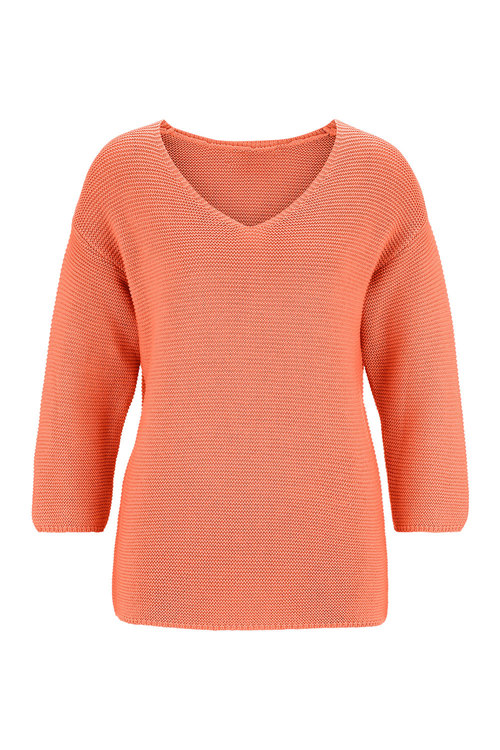 Euro Edit V-Neck Knit Sweater