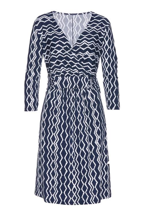 Euro Edit Chevron Print Dress