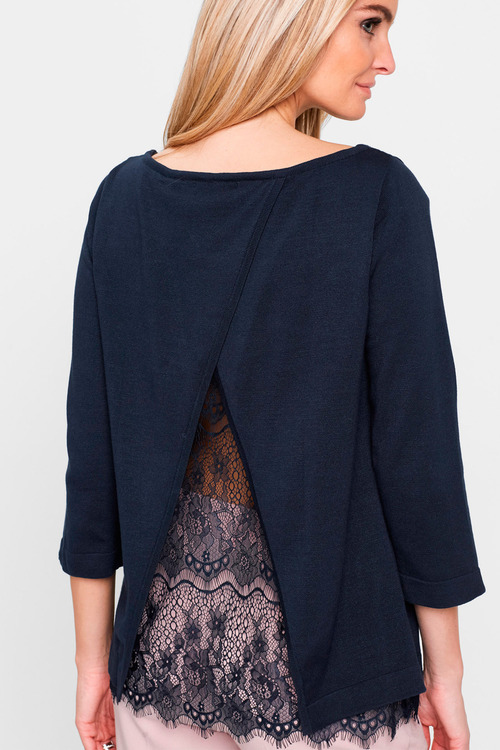 Euro Edit Lace Insert Top
