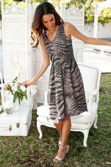 Euro Edit Animal Print Dress