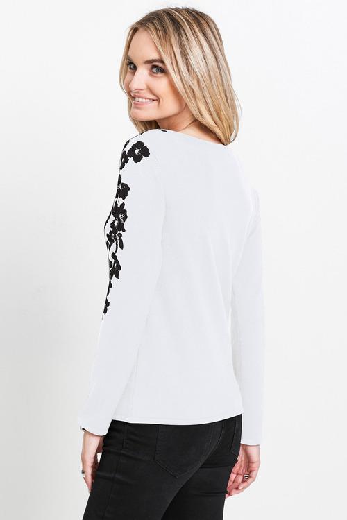 Euro Edit Floral Print Knit Top
