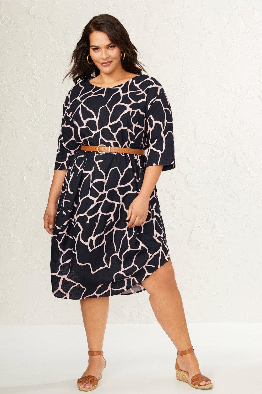 Sara Linen Cocoon Drape Dress Online Shop Ezibuy