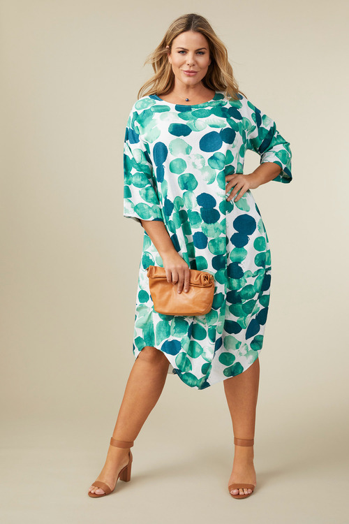 Sara Linen Cocoon Drape  Dress