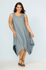 Sara Angled Hem Linen Dress